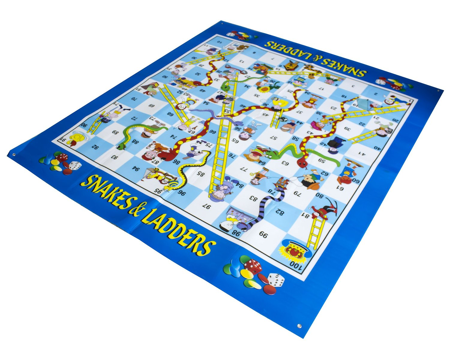 Giant Snakes& Ladders Game Outdoor Activity Fun It 20cm Inflatable Dice It Can Provide Hours Of